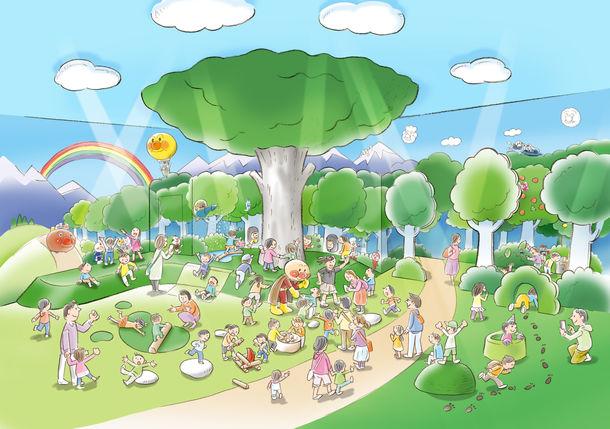 名古屋アンパンマンミュージアムに新設されるあそびの森